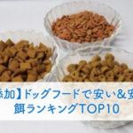【無添加】ドッグフードで安い&安全な餌ランキングTOP10